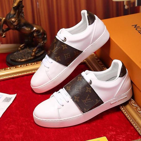Casual Zapatillas Snakers Chaussures de sport Kökeni Kutu Lüks ile Femme dökün Bayan Ayakkabı Spor Ayakkabı Moda Frontrow Sneaker Womens