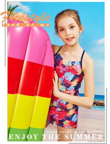 Maillot de bain pour enfants Outdoor Wading Sports Maillot de bain deux pièces Maillot de bain fille 2-14 ans