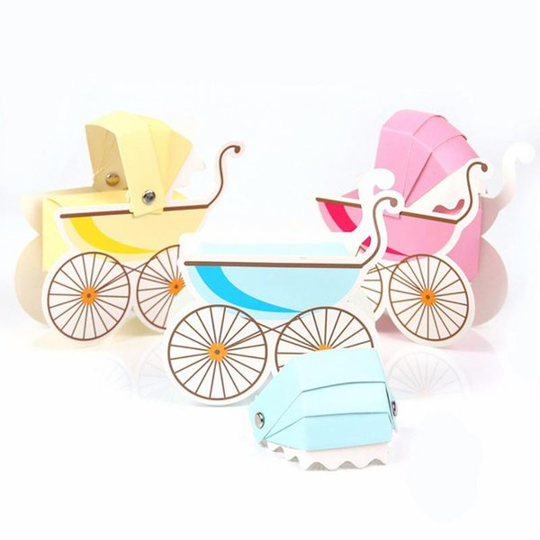 Para Recém-nascidos Festas Presentes Favor de Festa de Casamento New Criativo 10 Pcs Stroller Forma Baby Shower Kids Favor Caixas de Bombons