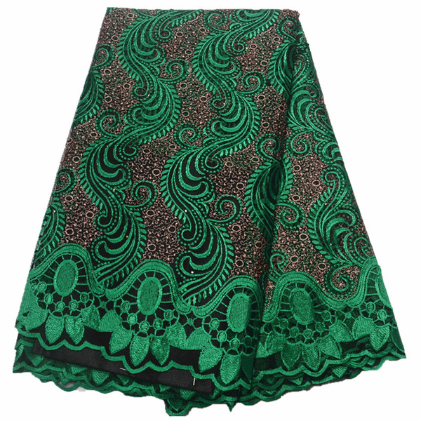 best selling nigerian lace fabrics for wedding African French Tulle Lace fabric 2019 high quality african 5yards