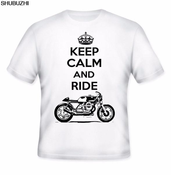 Camisetas de verano para hombres Ropa de verano de algodón de fitness Ropa italiana de café Racer Keep Calm Top Camiseta de algodón sbz1338