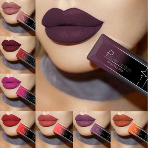 Profesional Maquillage Matte Liquid Lipstick Sexy Velvet Lasting Waterproof Lip Tint Lip Gloss Cosmetic 21 Color Select#