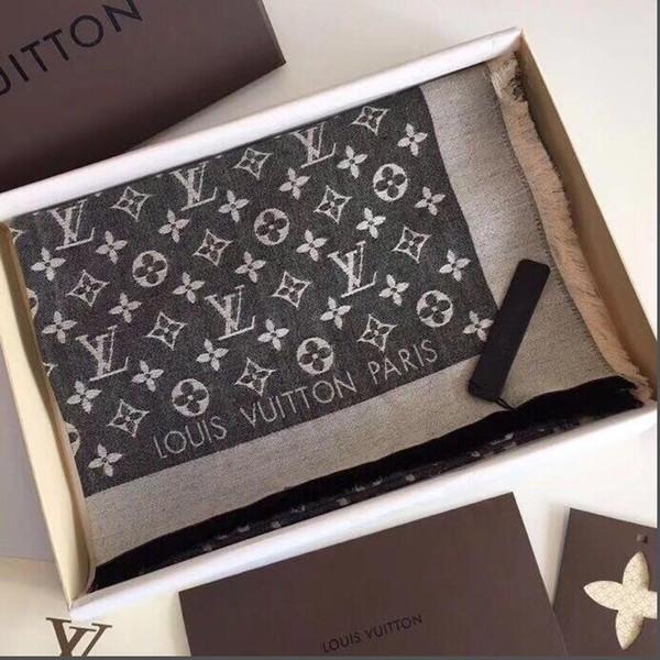Luxury Scarf Letter Pattern Women Scarf Silk Cotton Designer Scarf Shawl Ladies Spring Scarves Size 140x140cm