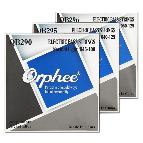 Orphee QB Series 4/5/6 Strings E-Bass Saiten Normal Light Nickel Alloy Hexagonal Core Nano Coated E-Bass Parts
