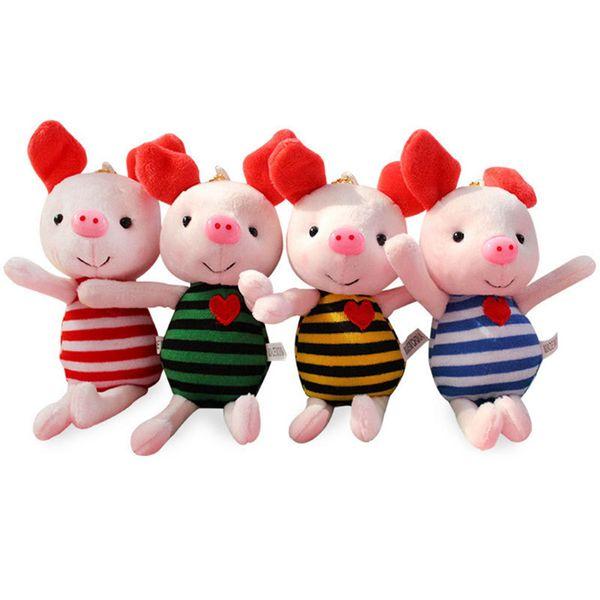 2019 Pig Year 17CM Stuffed Animals cute Plush Pig Toys Kawaii Baby&Girls&boys Birthday Gifts small pendant Toys
