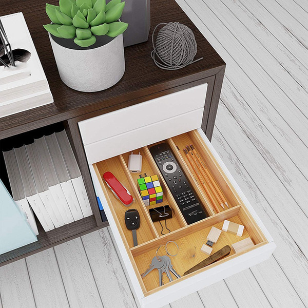 2019 Bamboo Drawer Storage Box With 5 Compartments Of Kitchen Silverware  Storage Box, Cutlery Tray Bamboo Box Cutle From Watcheshomie, $44.55 | ...