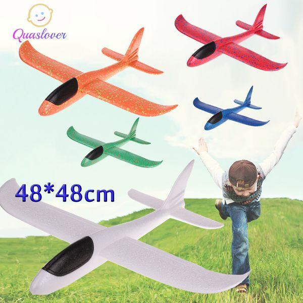 DIY 어린이 장난감 폼 평면 손 비행기 플라잉 비행기 비행 글라이더 비행기 헬기를 던져 모델 비행기 장난감 어린이 야외 게임에 대한