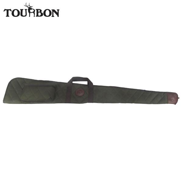 Tourbon Hunting Accessories Tactical Shotgun Case Foldable Slip Nylon Airsoft Gun Carrying Bag w/ Ammo Shells Pouch 138CM #562874