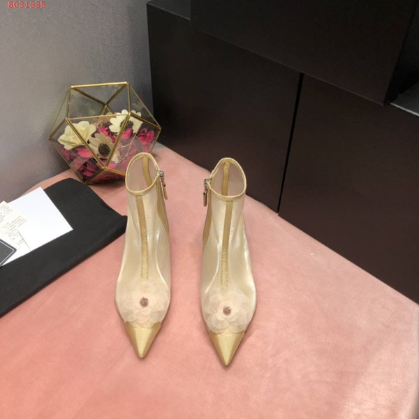 Runway style for the 2019 fashion show,Transparent gauze breathable sandals,Elegant charm sandals for women