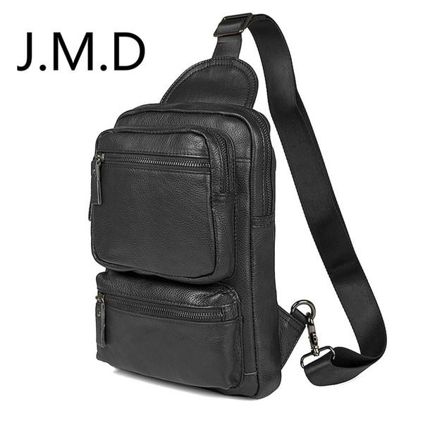 J.M.D 2019 New Arrival Vintage Cow Leather Style Men's Leather Travel Bag Casual Shoulder Bag Messenger 4011