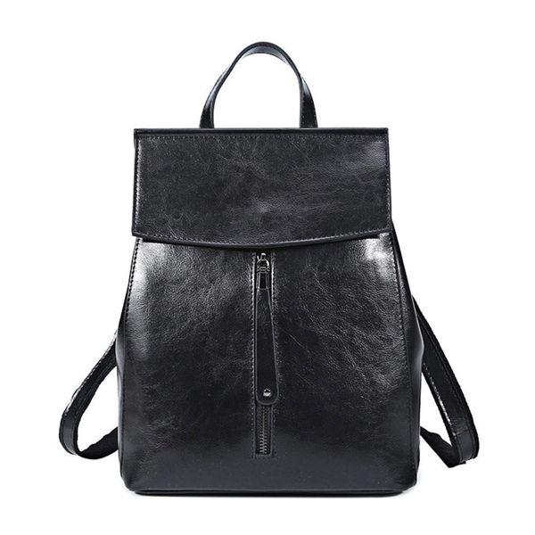 good quality Genuine Leather Backpack Vintage Cow Split Leather Women Backpack Ladies Shoulder Bag School Bag For Teenage Girl