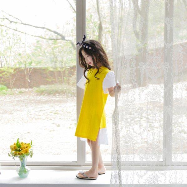 gelbe Mädchenkleid
