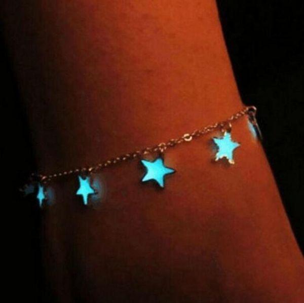 Nouvelle Mode Femmes Belle Étincelles Lumineuses Lumineuses Pieds Nus Sandale Chaîne De Cheville Bracelet Plage Chaîne Bijoux Cadeau Livraison Gratuite