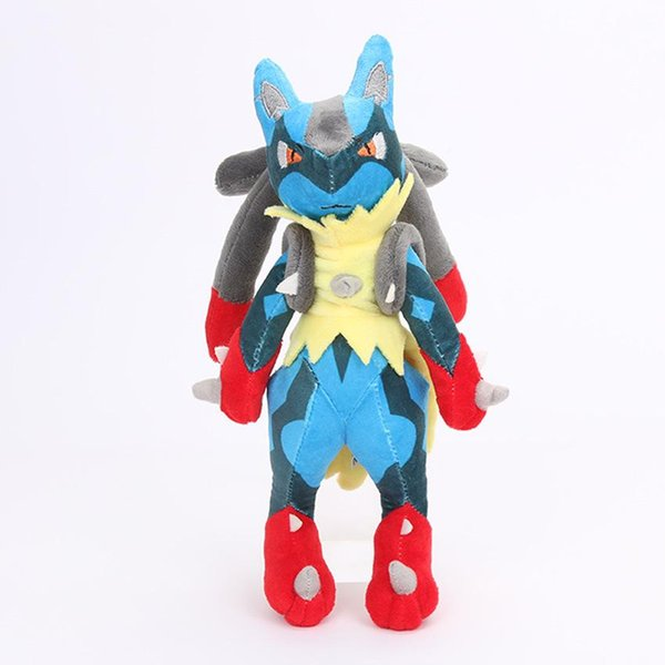 """lowprice adorable Hot New 11"""" 28CM Lucario XY Plush Doll Anime Collectible Dolls Party Gifts Soft Stuffed Toys"""