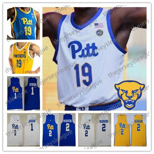 another chance 71cf3 ddb2c 2019 Pittsburgh Panthers PITT 2019 Custom Any Name Number Stitched Blue  White Yellow NCAA Basketball Jerseys #1 Xavier Johnson 2 Trey McGowens From  ...