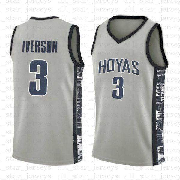 top popular NCAA Lower Merion Basketball Jersey Georgetown 3 Allen 3 Iverson Bethel High School College University 2019 2020