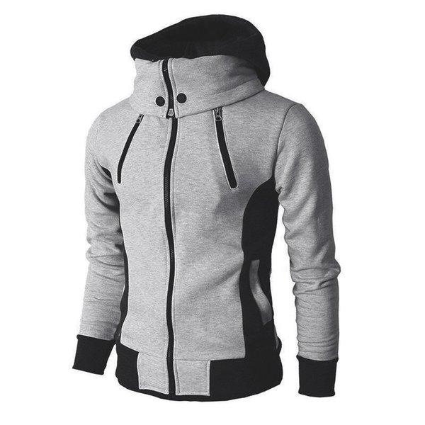 2019 New Parkas Coat Fashion Men's Sports and Leisure Hooded Coat Men's Jacket Slim Clothing DD6MF