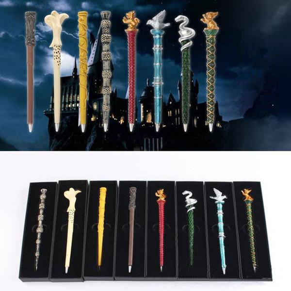 Nuovo stile Harry Potter bacchetta magica penna di Serpeverde Distintivo Penna a sfera Grifondoro collegio penna magica Cosplay Performing Prop T9I00146
