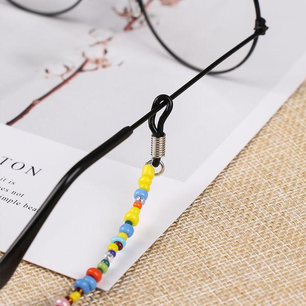 도매 1PC 패션 달콤한 여성 안경 체인 컬러 파란색 안경 끈 안티 선글라스 스트랩 안경 코드 액세서리 슬립