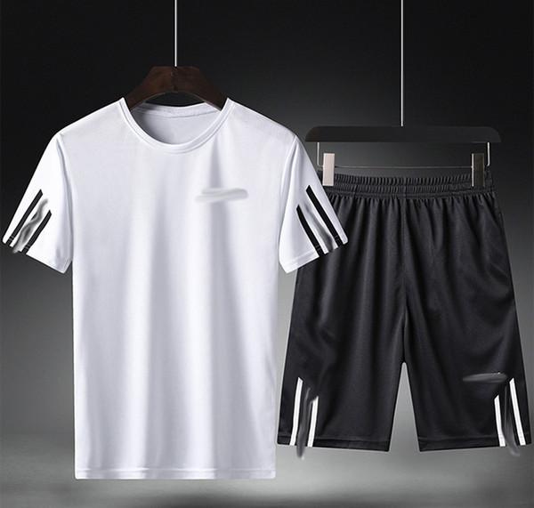 Kurzer Anzug Sommersportanzug Männer Casual Kurzarm-T-Shirt Fünf Hosen Männer Shorts Kleidung Fitness Laufen Atmungsaktiv Casual Sports SP