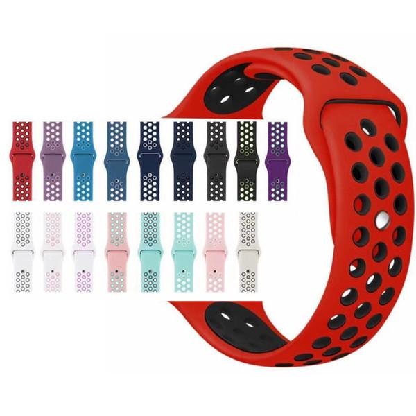 Bracelet en silicone sport pour bracelet de montre Apple Bracelet 40mm 44mm 42mm bracelet de 38mm Bracelet en caoutchouc pour montre Apple Series 4/3/2/1
