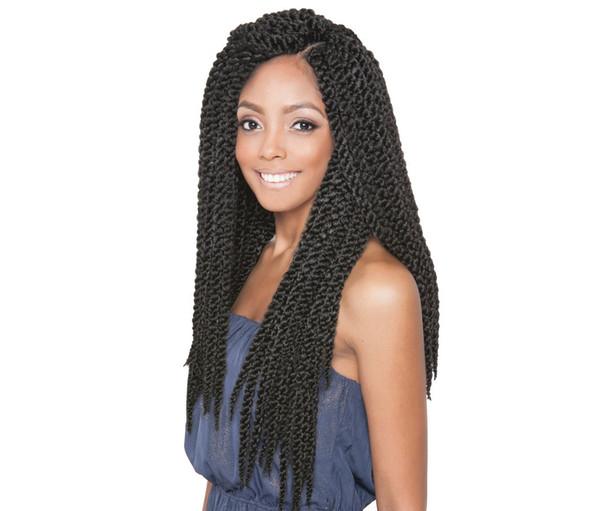Vendita calda! 1 Pz 18 pollice 3D Cubic Twist Crochet Capelli 12 Fili / pacchetto Ombre Trecce Sintetiche Estensione Dei Capelli Per Le Donne Nero Africano