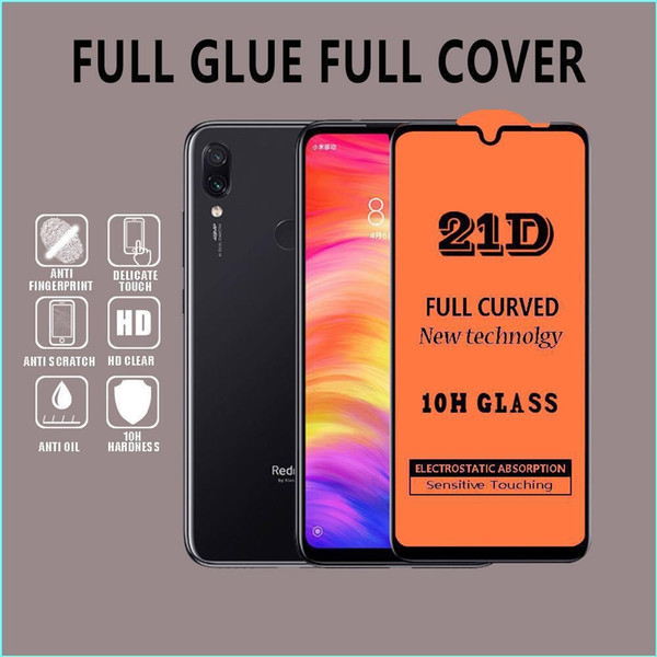 Full Cover 6D 9D 21D Tempered Glass Screen Protector AB Glue Edge to Edge For Huawei Nova 5 Mate 30 lite P SMART Z 200pcs/lot