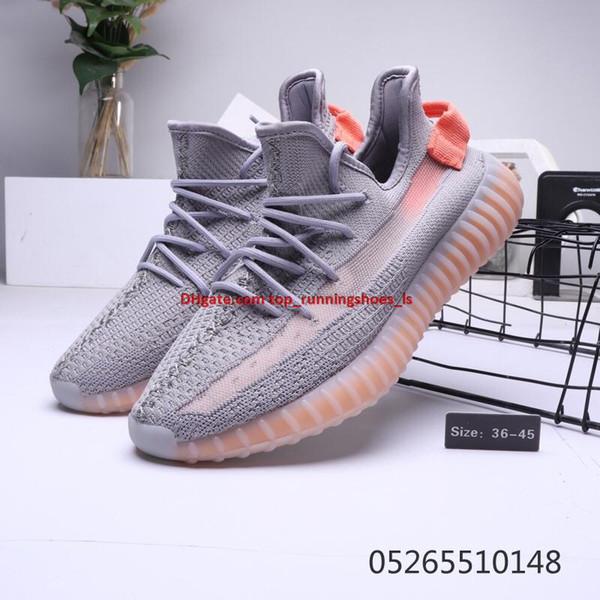 Kanyewest Beluga 2 Erkek Kanye West Balık için ipek gri ayakkabı tozu ile erkekler kadınlar sneaker koşu basketbol ayakkabısı logo boyutu: 5-11