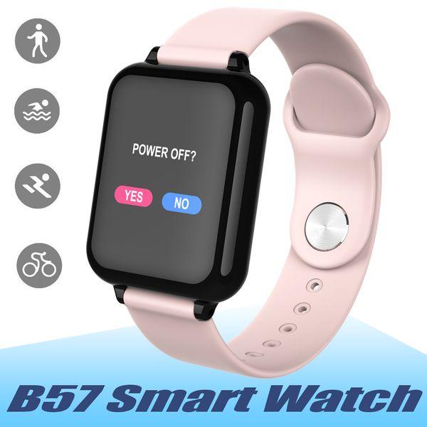 B57 Montre Smart Watch Imperméable À L'eau Moniteur de Fréquence Cardiaque Pression Artérielle Multiple Mode Sport Smartwatch Femmes Wearable Watch Hommes Smart Bracelet
