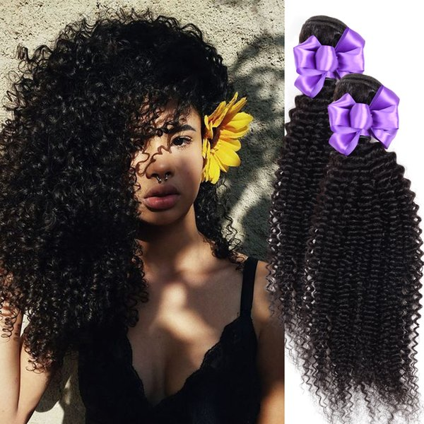 """Human Hair Bundles Kinky Curly Hair Weaves remy Malaysia Natural Color Hair Extensions 8""""-26"""" 100g 1Pack"""