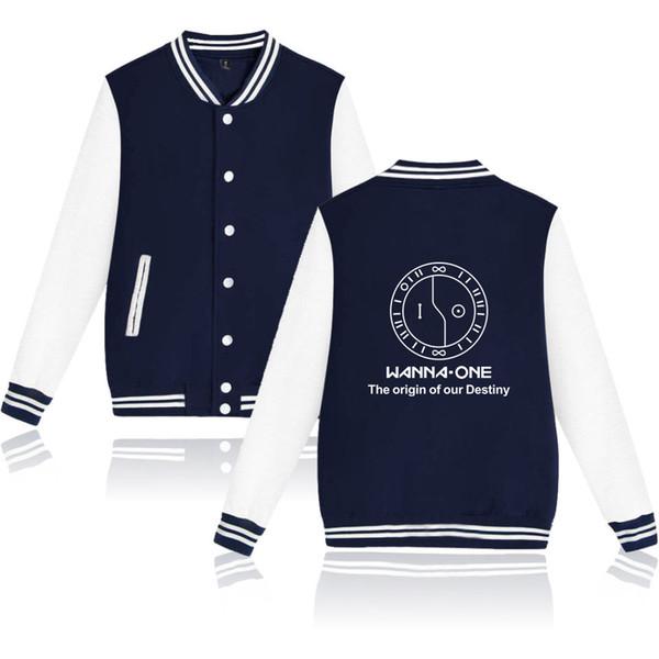 BTS Hip Hop Kpop Casual Harajuku Long Sleeve wanna one Baseball Jacket Tops Men/Women Clothes 2018 Print Plus Size A10294