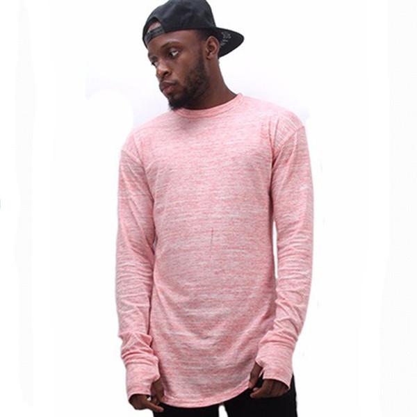 Extend Hip Hop Street T -Shirt Wholesale Fashion Brand T Shirts Men Summer Long Sleeve Oversize Design Hold Hand