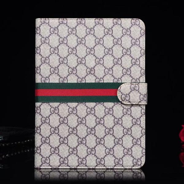 Per ipad pro 12.9 / Air3 10.5 / ipad2 3 4 / mini1 2 3 4 Designer Top Luxury Classic Monogram Custodia portafoglio in pelle Porta iPad Custodia mini5 air1 / 2