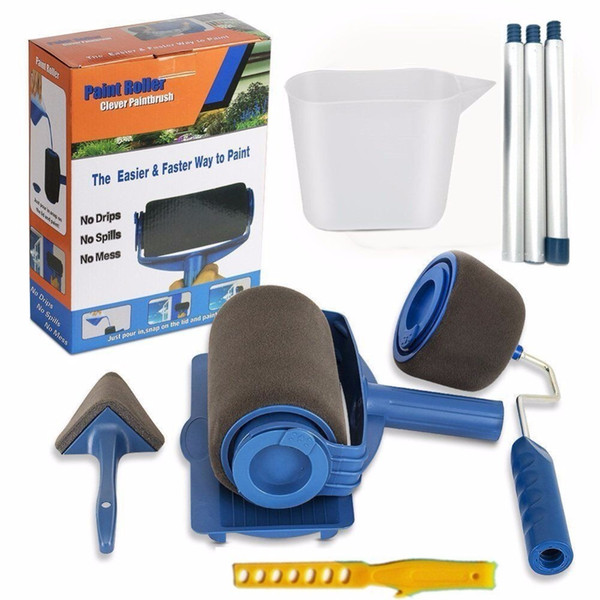 9pcs/set Runner Pro By Renovate Brush Handle Tool Paint Roller Wall Painting For Home Office Q190605