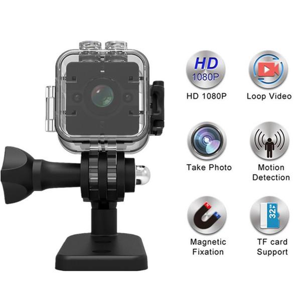 SQ12 HD 1080P Mini Camera Wireless Portable Recorder DVR Bike Online Digital Loop Video Camcorder Endoscopy Detect Waterproof Camera DV
