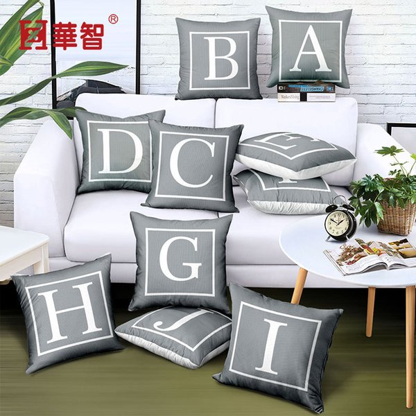 Printing Letter Pillow Cases Gary White Twill Soft Comfortable Pillow Case Home Car Hotel Creative Cushion Cover 4 5hzD1