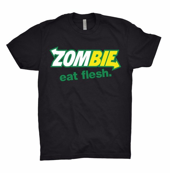 ZOMBIE Eat Flesh Футболка Топ Метро Ходячие мертвецы Обитель Зла Хэллоуин 2018 Лето 100% хлопок Официальный хипстер O-образный