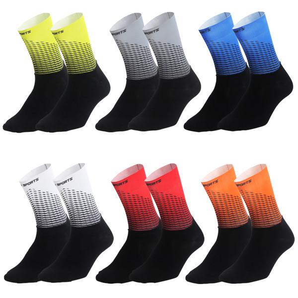 2019 nuevos calcetines de ciclismo para hombres, mujeres, calcetines de bicicleta de carretera, marca exterior, bicicleta de carreras, compresión, deporte, calcetines, ciclismo