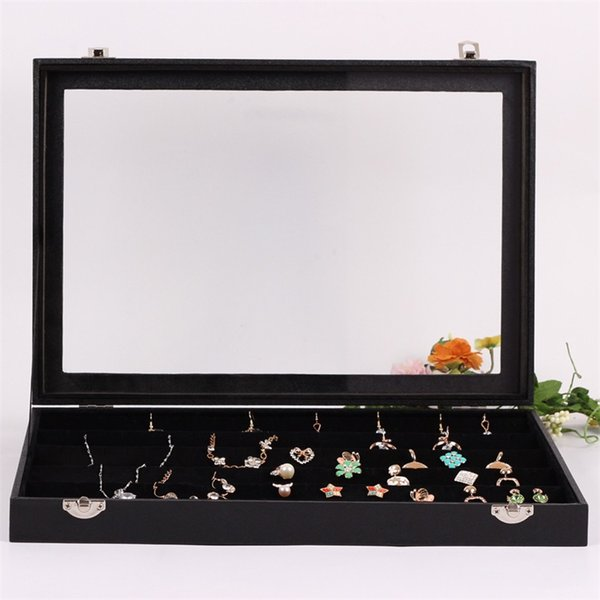 Jewelry Storage Dustproof Display Panel Pure Color Luxurious Ear Nail Box Anti Wear Portable High Capacity Hot Sale 25dqI1