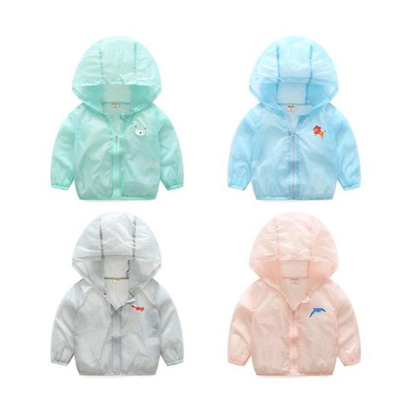 Summer Outdoor Skin Jackets For Girls Boys Solid Clothes Children Outerwear Coats Baby Anti-UV Windbreaker Kids Sunscreen Jacket & Hoodies