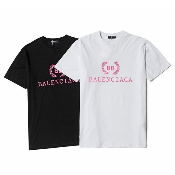 2019 Top lusso BB Designer Brand Paris stampa magliette logo T-shirt in puro cotone per uomo donna Estate donna Breve Tee poloshirt abbigliamento