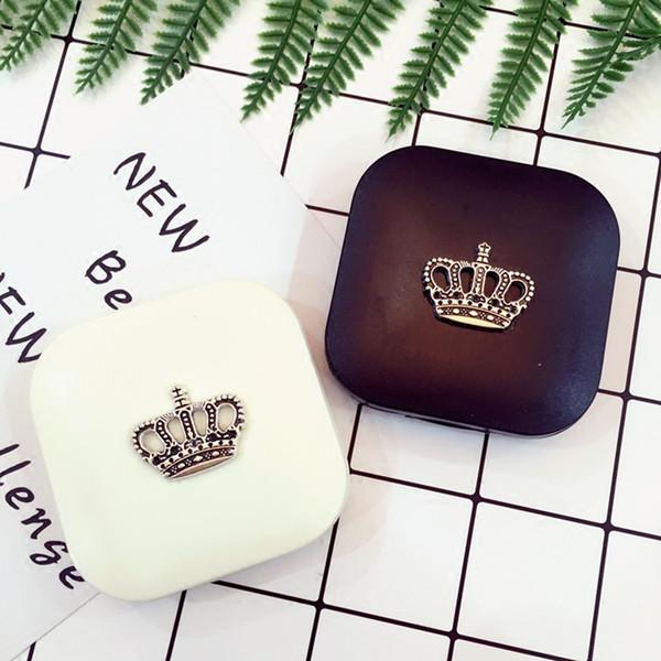 Симпатичные Контактные линзы Case Crown Design Travel объектива Box Set с зеркалом глаз линзы Держатель контейнера для косметических контактных линз