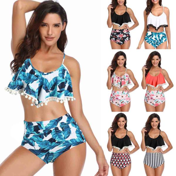 Abbigliamento donna Bikini a vita alta Sexy 3XL Costume da bagno femminile 2019 Plus Size designer Costumi da bagno bikini Donne Brasiliano Push Up Bikini drop ship
