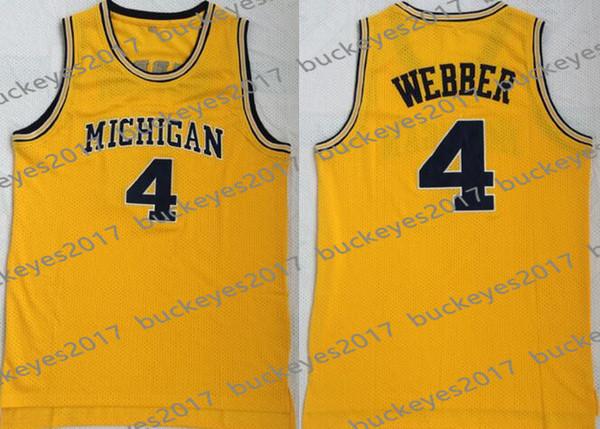 4 Chris Webber Yellow Vintage