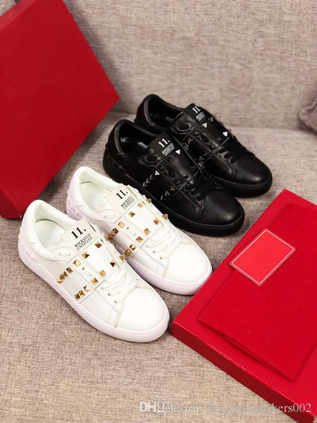 2019 new free shipping New Brand Casual Men Sneakers Blue Genuine Leather Sheepskin Arena Lace-up Luxury Kanye West Trainers High yz190721