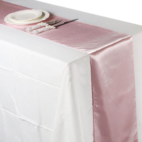 Kostenloser Versand Tischläufer Satin Tischläufer Für Hochzeit Satin Band Tuch Tischläufer Flagge Von Hochzeitsbankett Dekore Jf -775