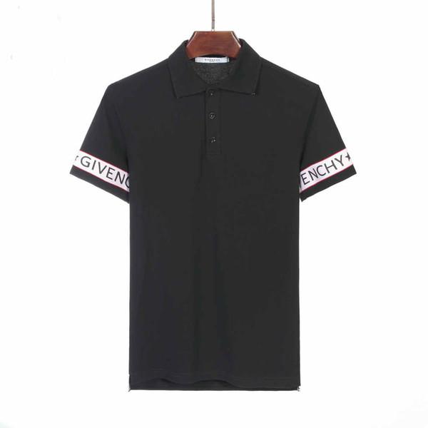 2019 İtalyan tasarımcı polo gömlek t-shirt lux kaplan çiçek nakış erkek polo yüksek sokak moda çizgili baskı polo t-shirt