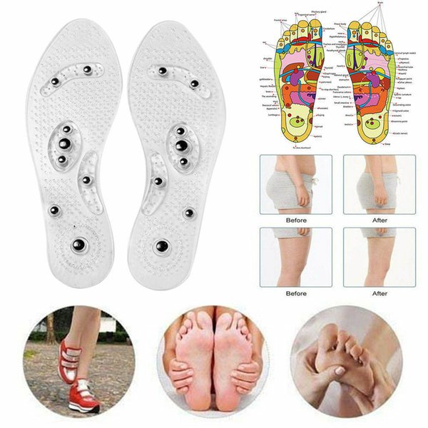 Magnetic Therapy Silicone Insoles Transparent Massage Foot Weight Loss Slimming Insole Health Care Shoe Pad Sole Wholesale Dropshipping