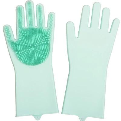 best selling 1Pair Gloves Kitchen Silicone Cleaning Gloves Dish Washing Glove for Household Rubber Kitchen Clean Tool 2019 Best Selling