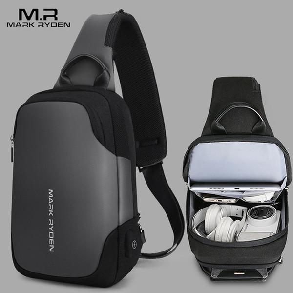 Mark Ryden 2019 New Anti-Theft Messenger Bag Waterproof Men's Strap Chest Bag Fit 9.7 inch Ipad Fashion Men's Shoulder